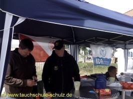 Infostand zum Maifest mit Gewerbschau in Suderburg. 2011