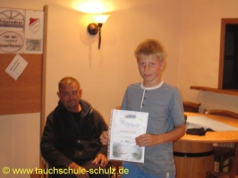 Florian Warnecke, IDA CMAS Grundtauchschein, 09.08.2013