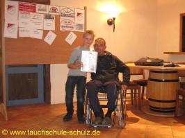 Merlin Bombeck, IDA CMAS Grundtauchschein, 09.08.2013
