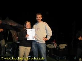 Linda Adelmann, IDA CMAS Grundtauchschein, 31.08.2012